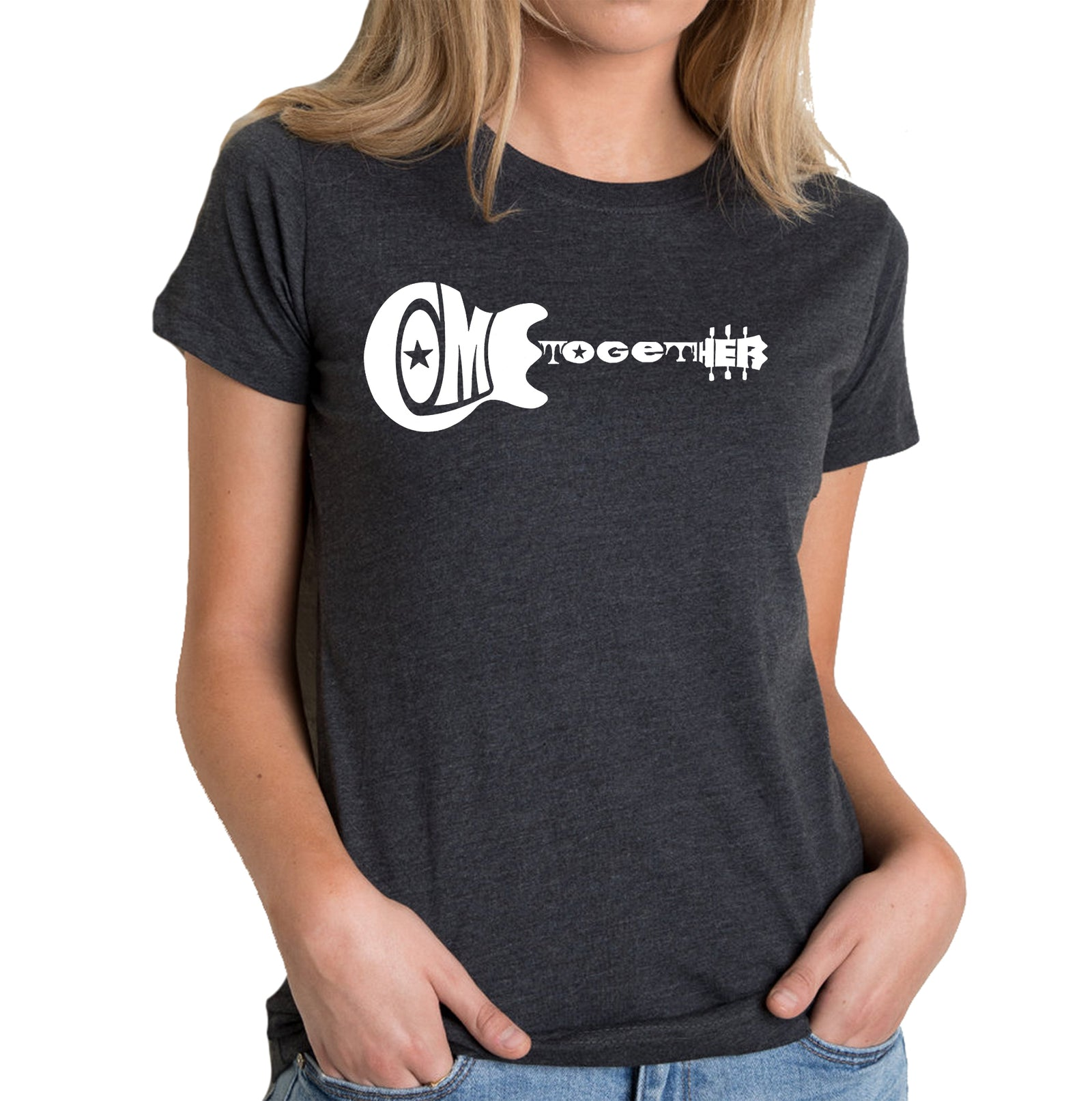 Women's Premium Blend Word Art T-shirt - COME TOGETHER