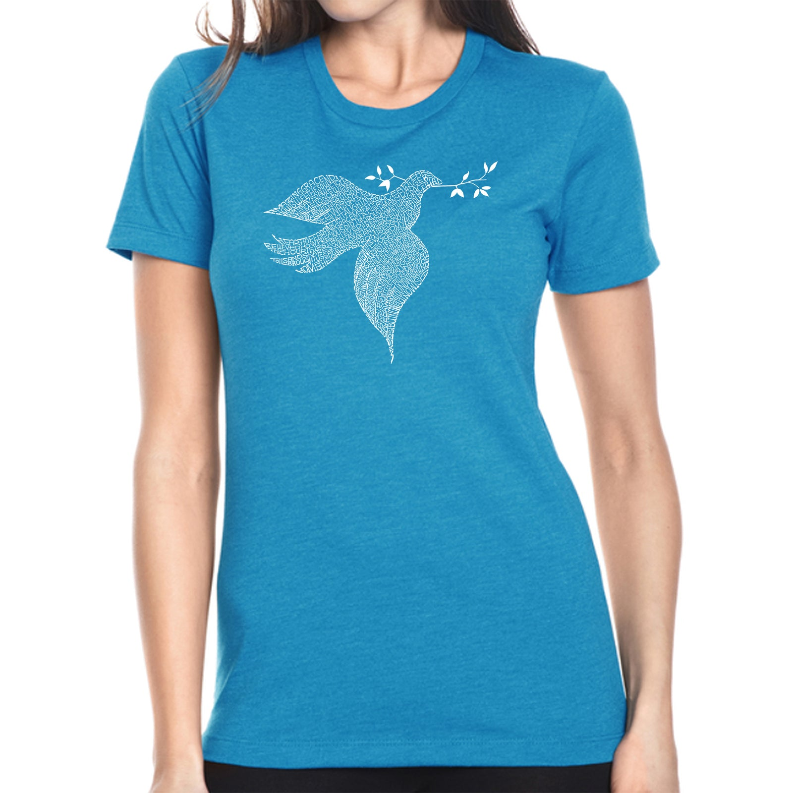 Women's Premium Blend Word Art T-shirt - Dove