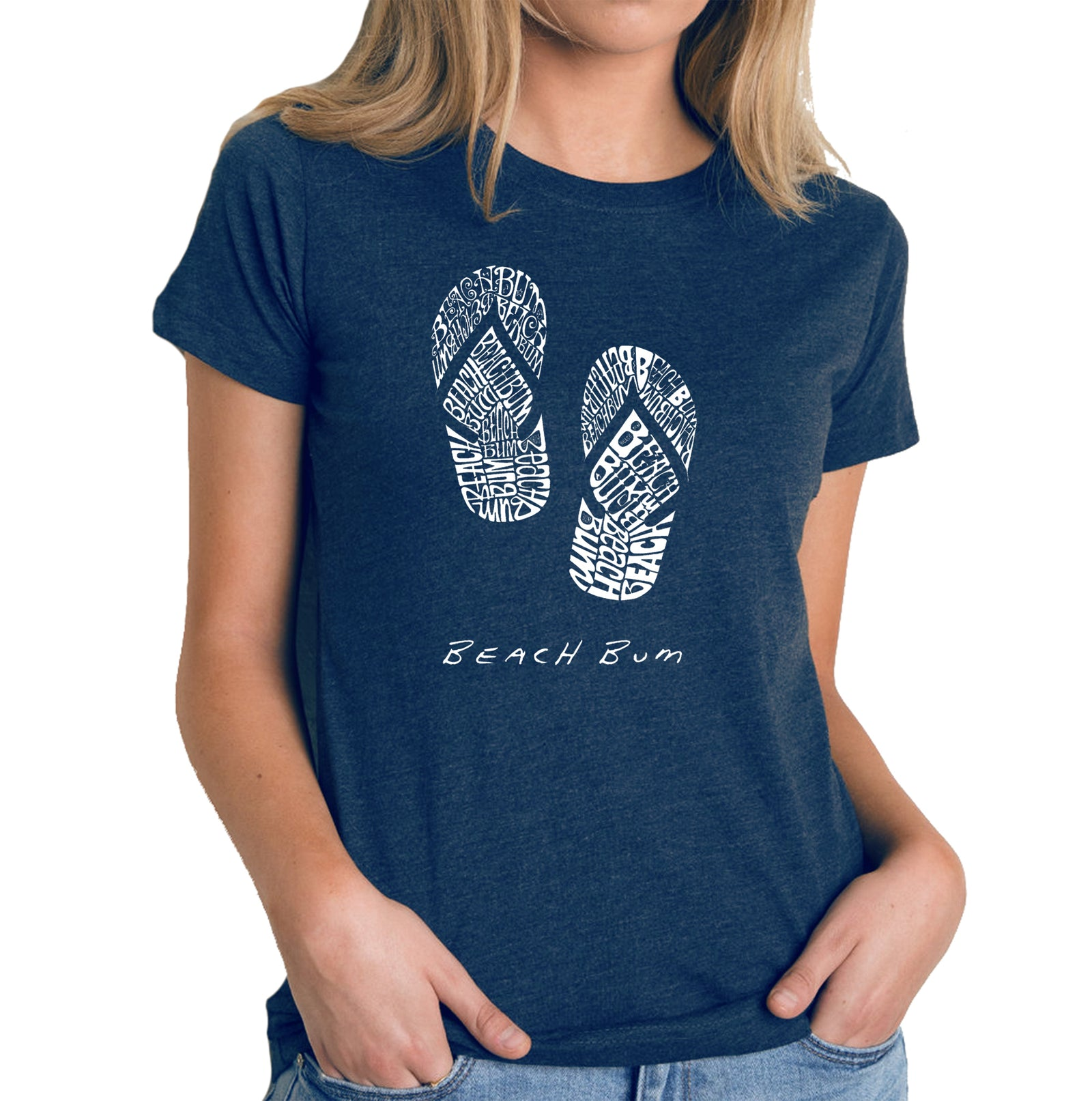 Women's Premium Blend Word Art T-shirt - BEACH BUM