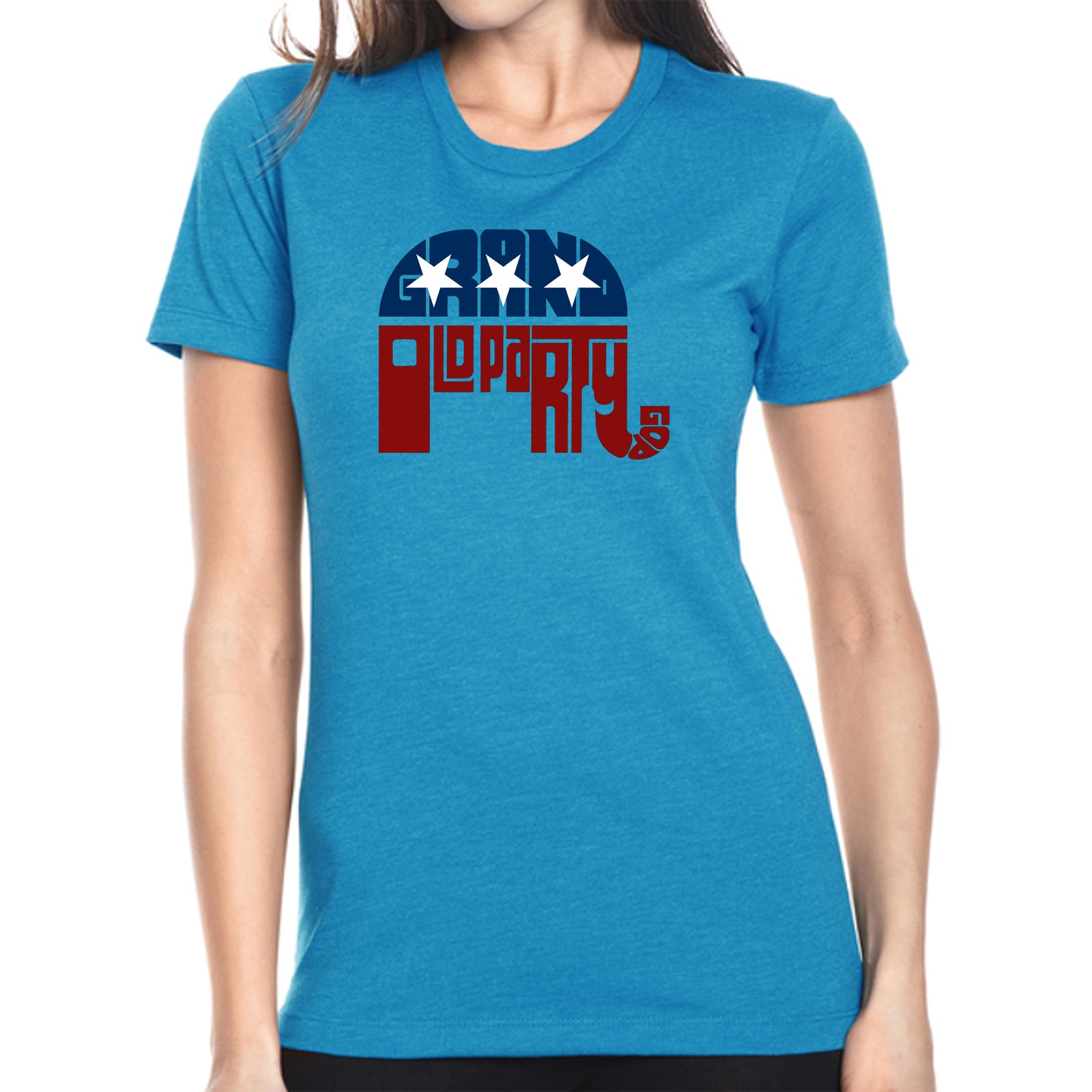 Women's Premium Blend Word Art T-shirt - REPUBLICAN - GRAND OLD PARTY