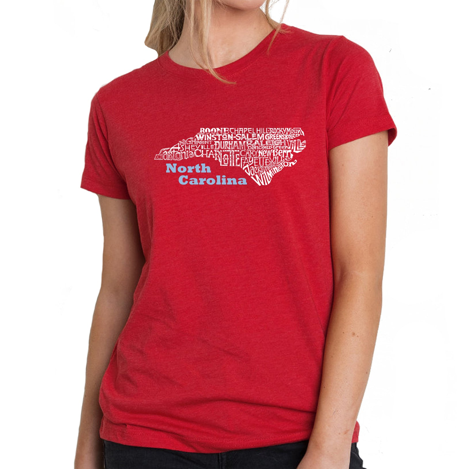 Women's Premium Blend Word Art T-shirt - North Carolina