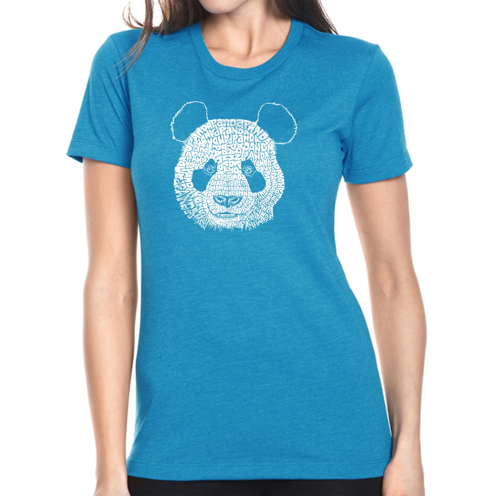 Women's Premium Blend Word Art T-shirt - Panda