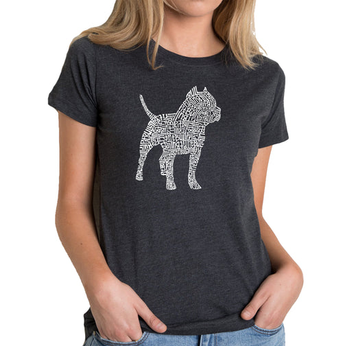 Women's Premium Blend Word Art T-shirt - Pitbull