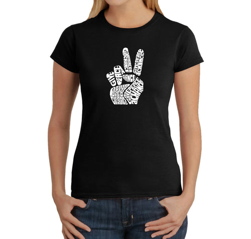 Women's T-Shirt - PEACE FINGERS