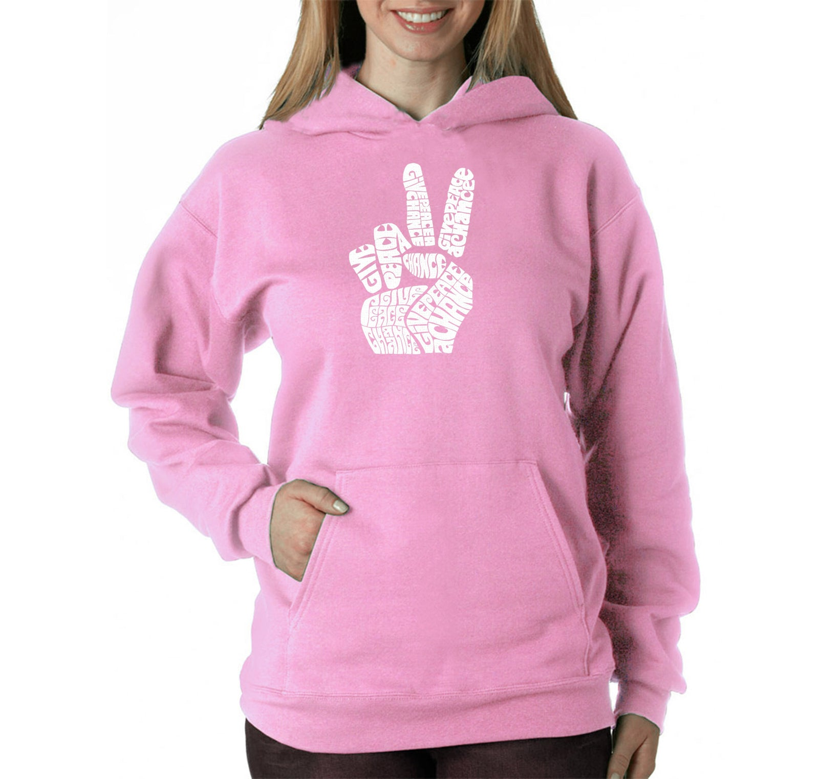 Women's Hooded Sweatshirt -PEACE FINGERS