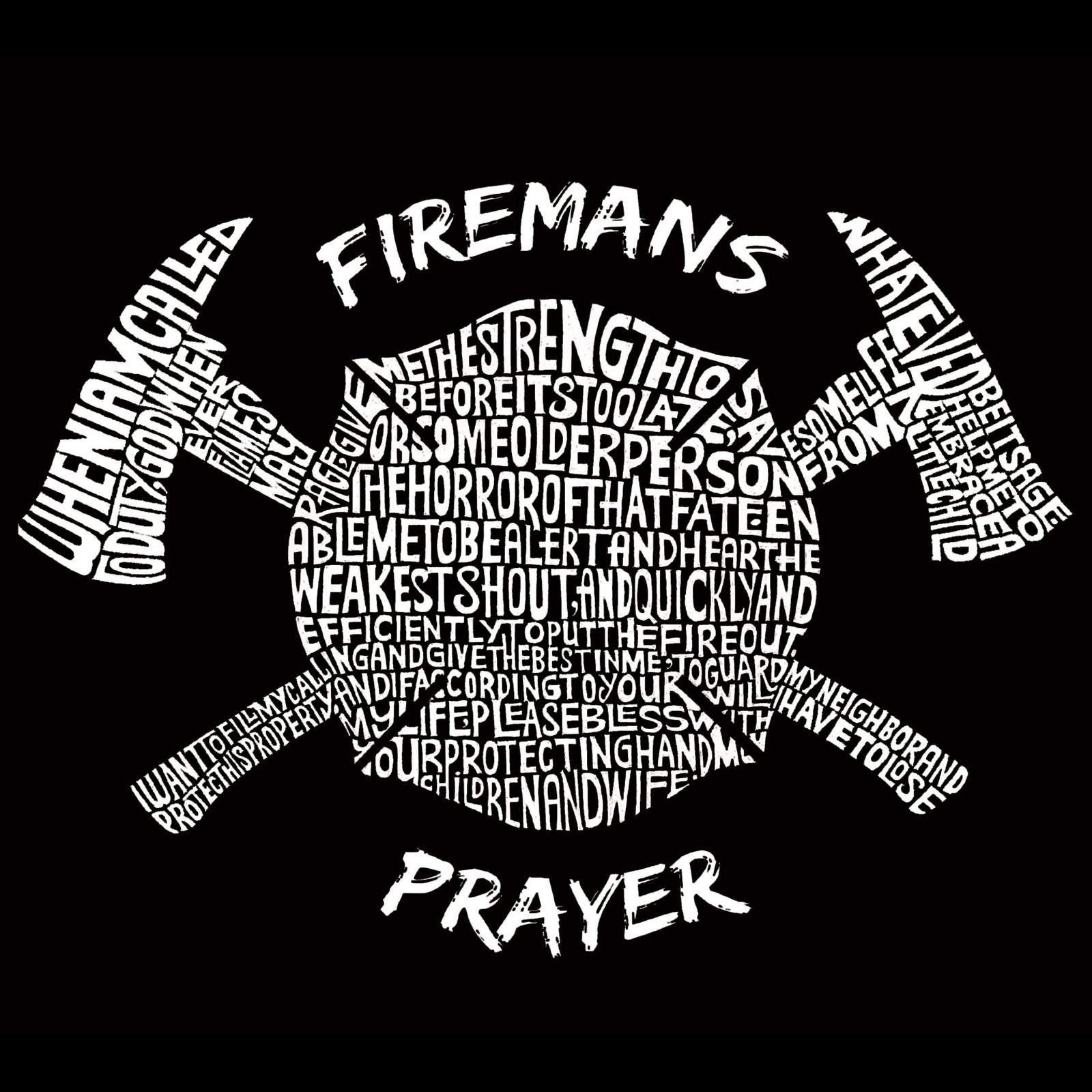 Small Tote Bag - FIREMAN'S PRAYER