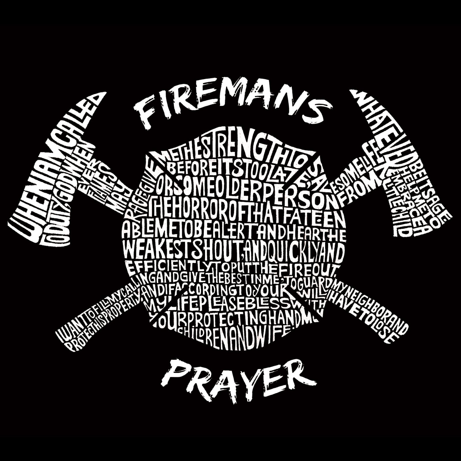 Women's Premium Word Art Flowy Tank Top - FIREMAN'S PRAYER