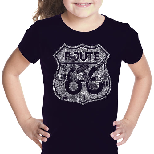 Girl's T-shirt - Stops Along Route 66
