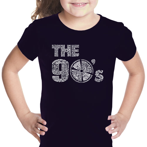 Girl's Word Art T-shirt - 90S