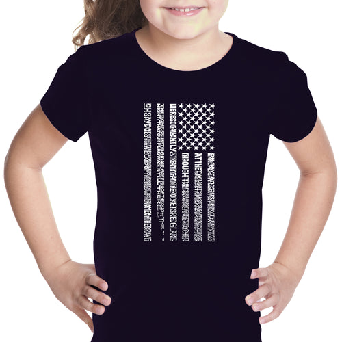 Girl's Word Art T-shirt - National Anthem Flag