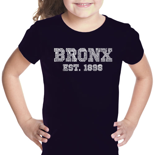 Girl's T-shirt - POPULAR NEIGHBORHOODS IN BRONX, NY