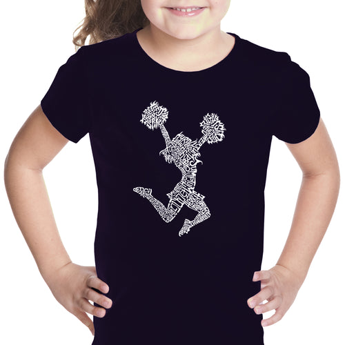 Girl's Word Art T-shirt - Cheer