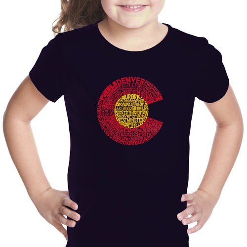 Girl's Word Art T-shirt - Colorado