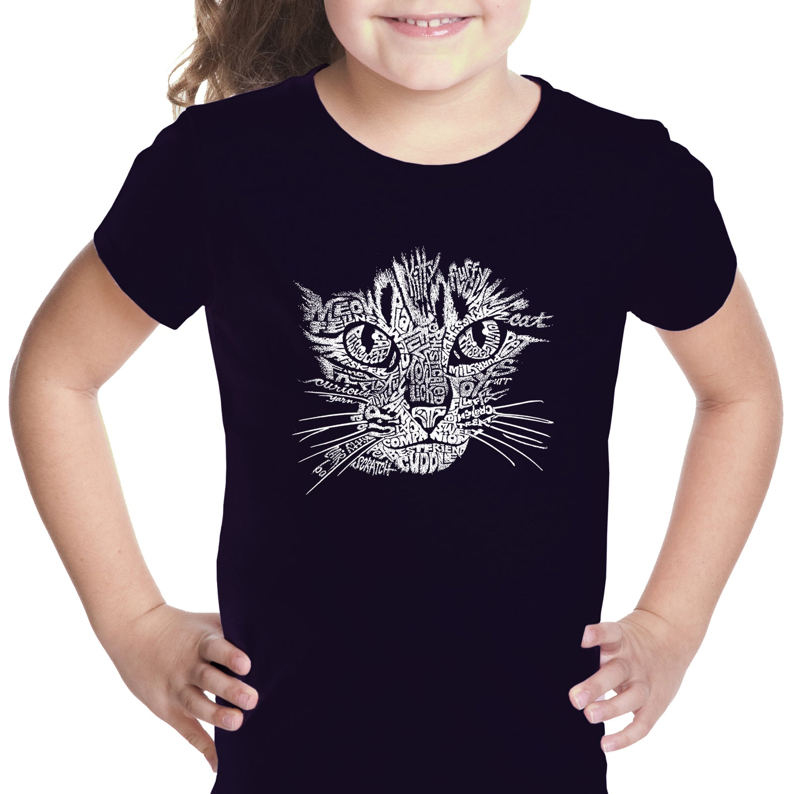 Girl's T-shirt - Cat Face