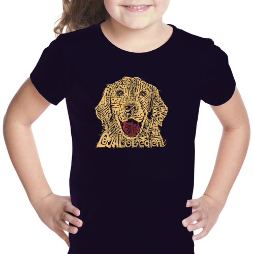 Girl's Word Art T-shirt - Dog