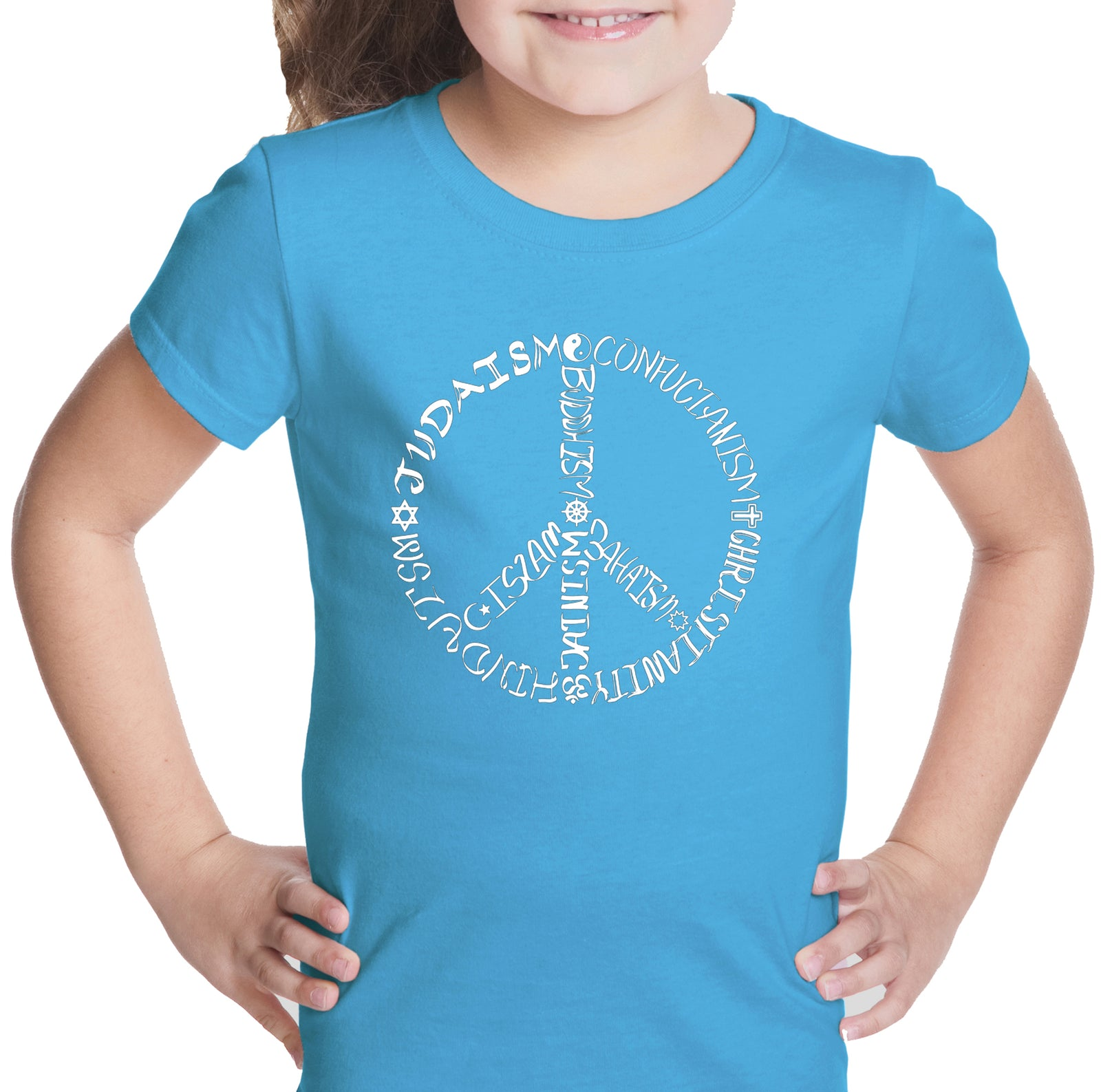 Girl's T-shirt - Different Faiths peace sign