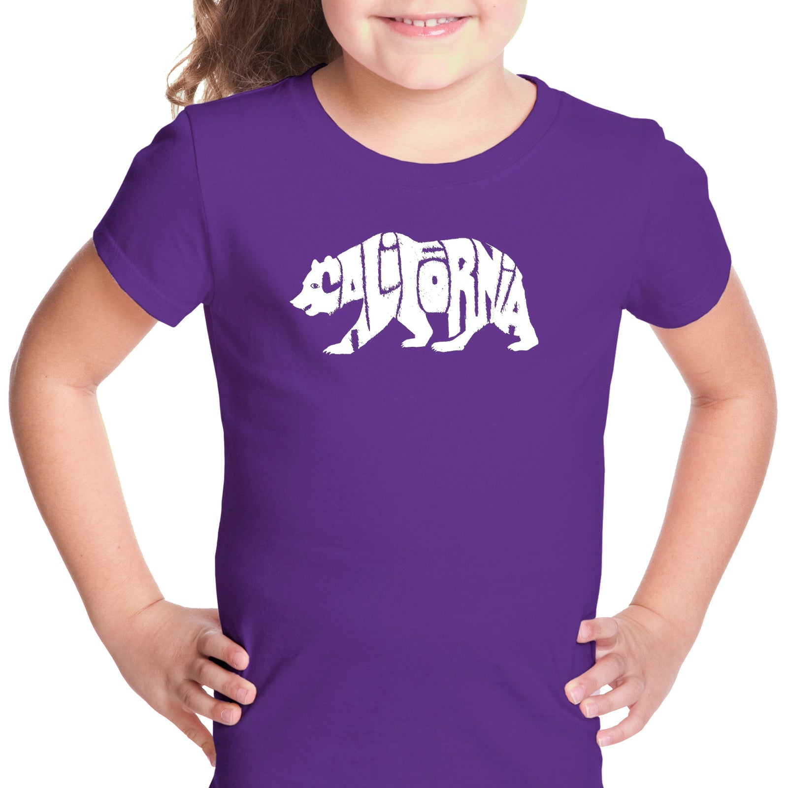 Girl's Word Art T-shirt - California Bear