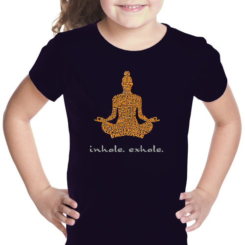 Girl's Word Art T-shirt - Inhale Exhale