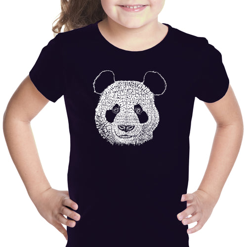 Girl's Word Art T-shirt - Panda