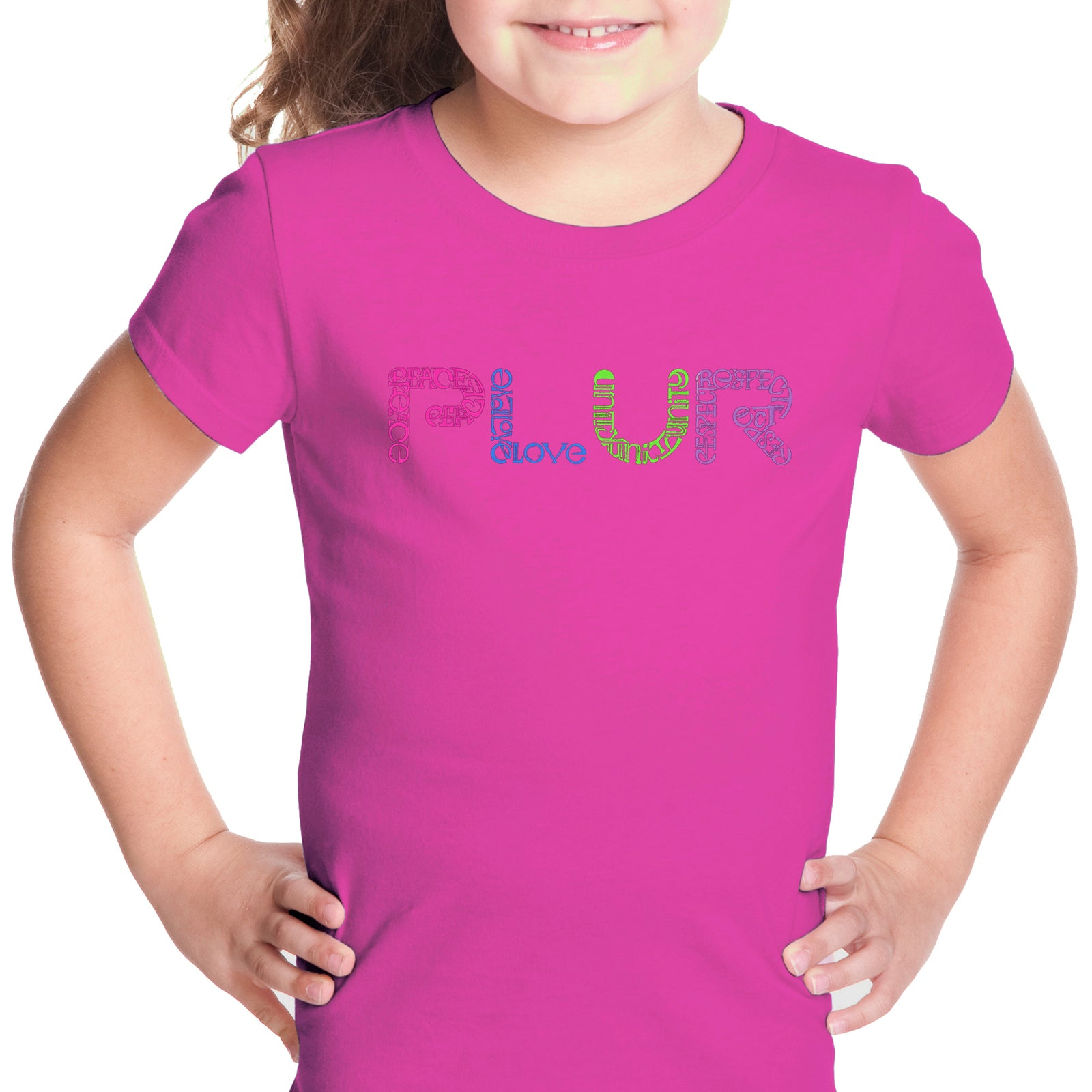 Girl's T-shirt - PLUR