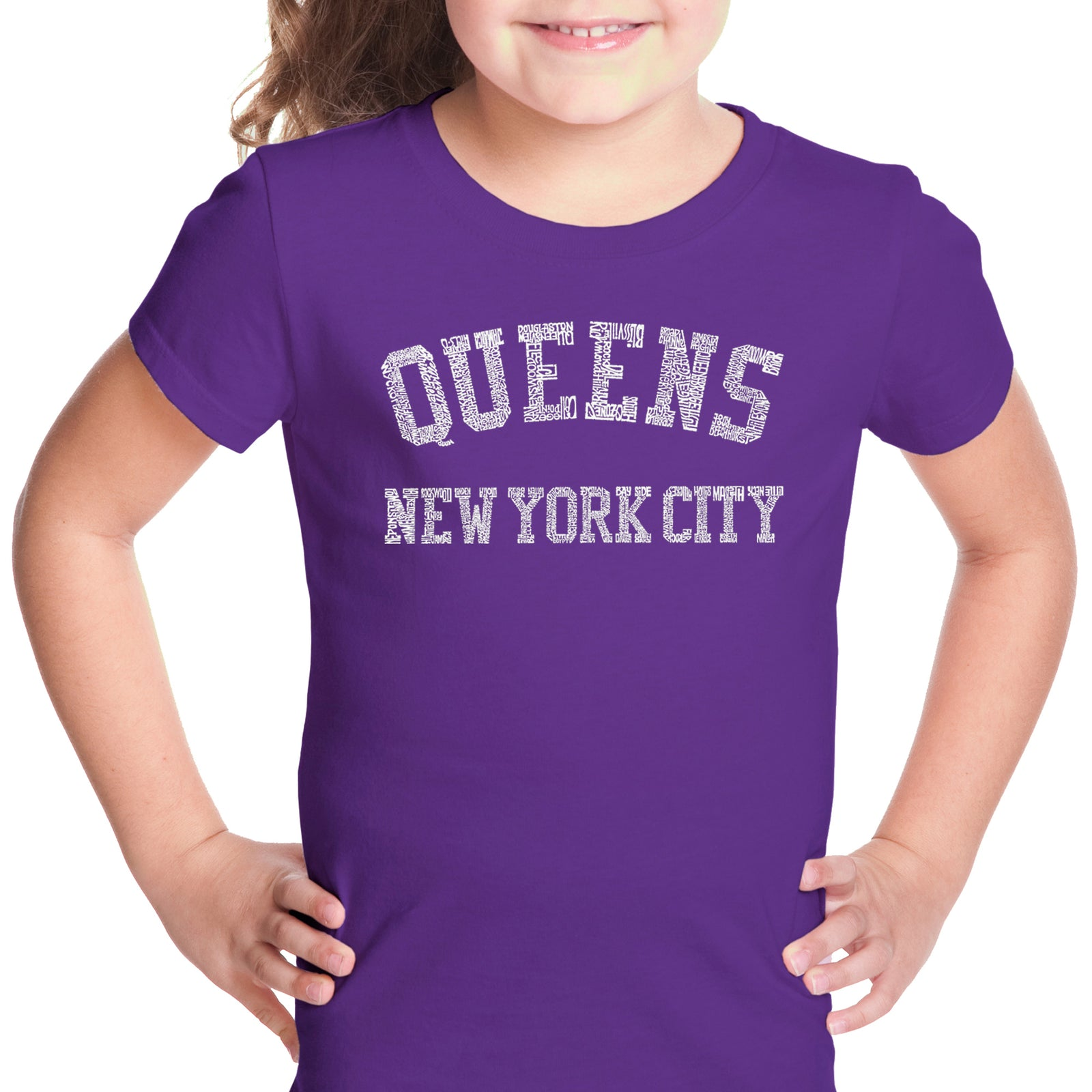 Girl's T-shirt - POPULAR NEIGHBORHOODS IN QUEENS, NY