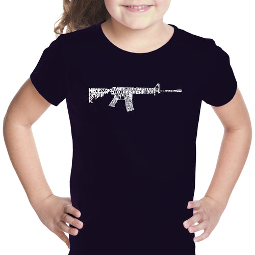 Girl's T-shirt - AR15 2nd Amendment Word Art