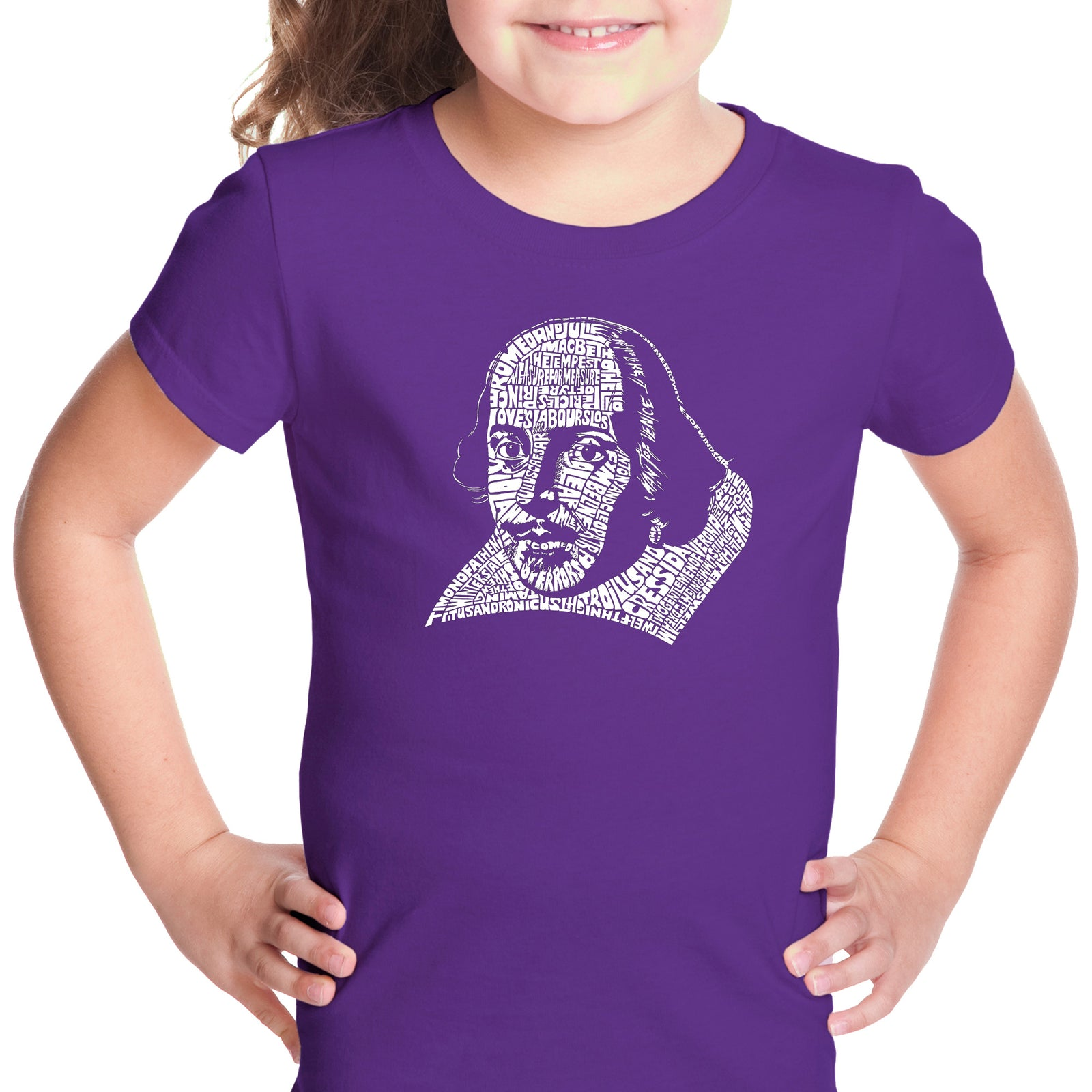 Girl's T-shirt - THE TITLES OF ALL OF WILLIAM SHAKESPEARE'S COMEDIES & TRAGEDIES