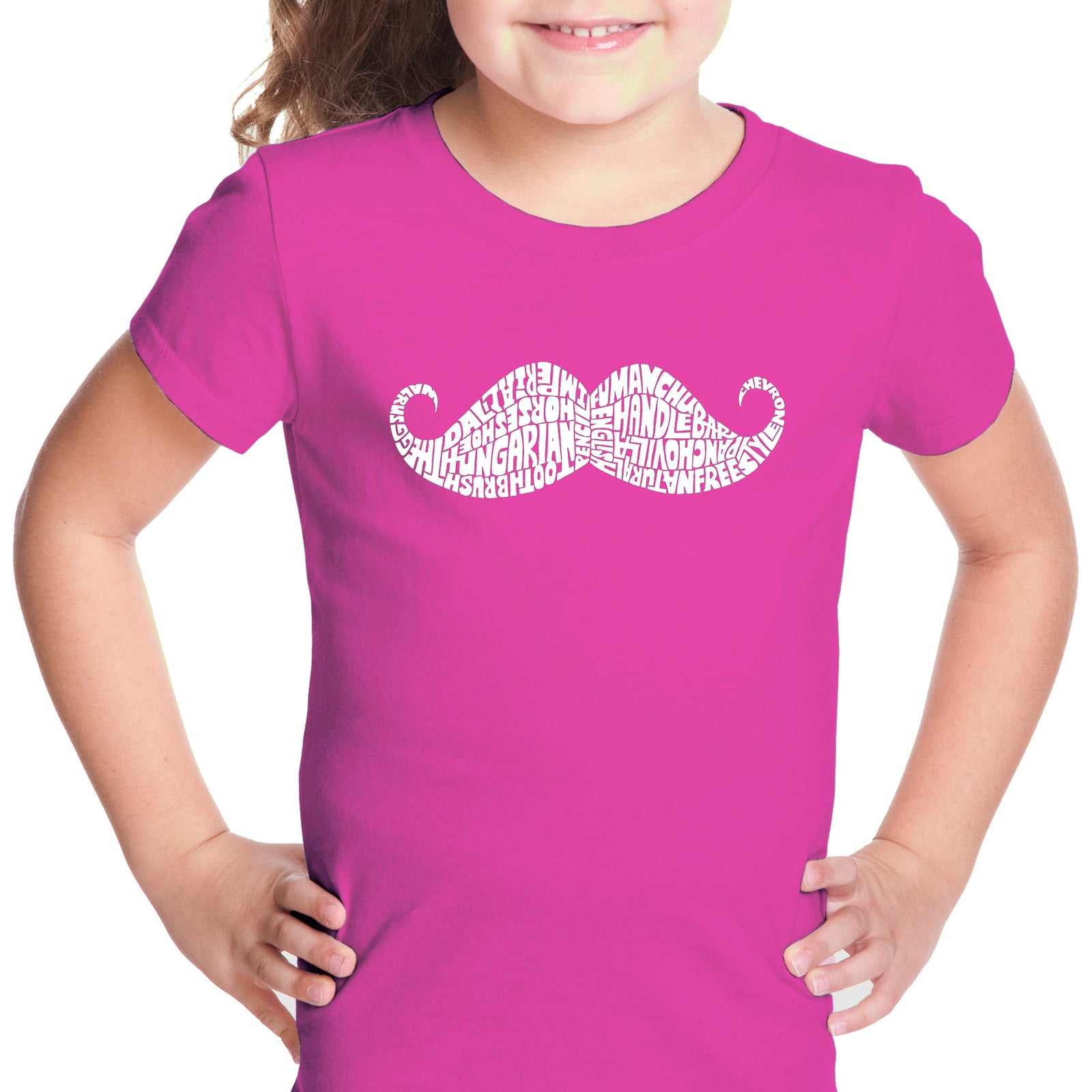 Girl's T-shirt - WAYS TO STYLE A MOUSTACHE