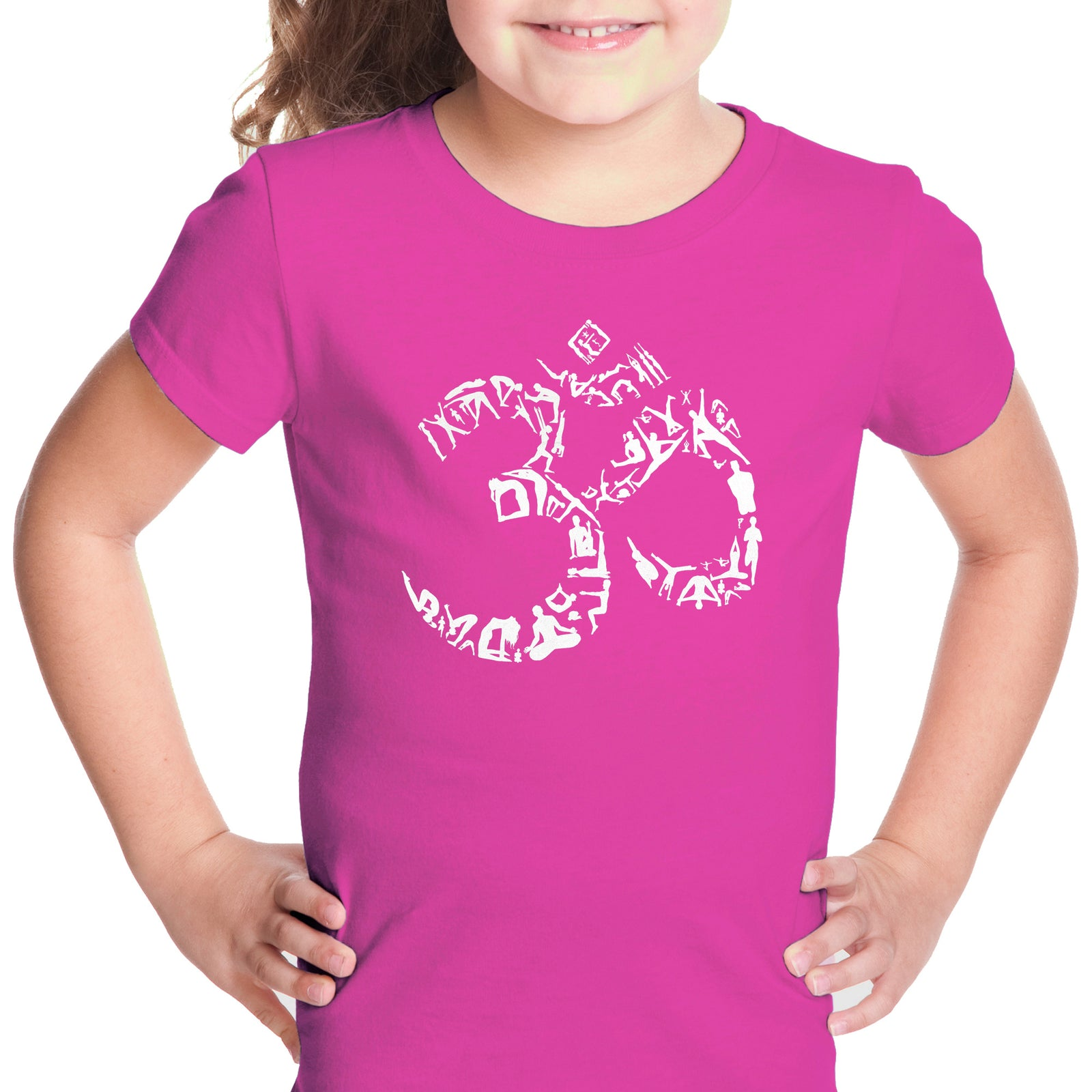 Girl's T-shirt - THE OM SYMBOL OUT OF YOGA POSES