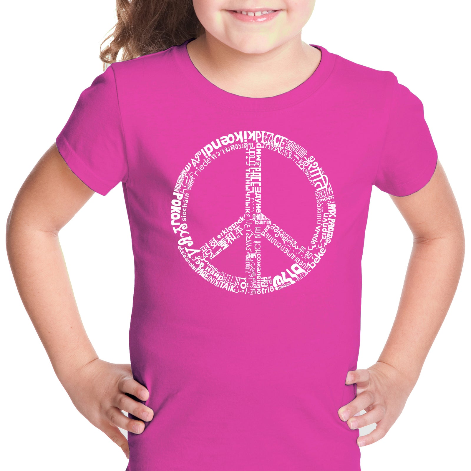 Girl's T-shirt - THE WORD PEACE IN 77 LANGUAGES