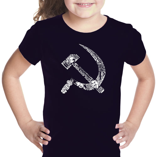 Girl's T-shirt - SOVIET HAMMER AND SICKLE