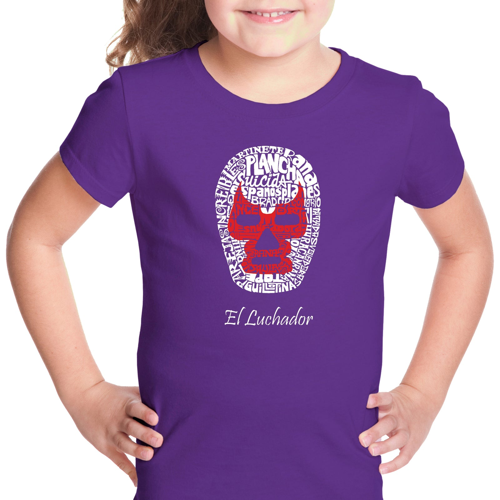 Girl's T-shirt - MEXICAN WRESTLING MASK