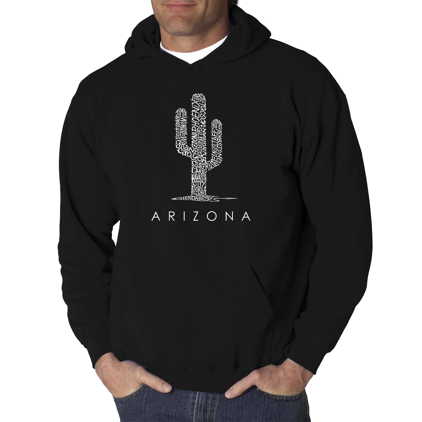 Los Angeles Pop Art Men's Hooded Sweatshirt - Arizona Cities