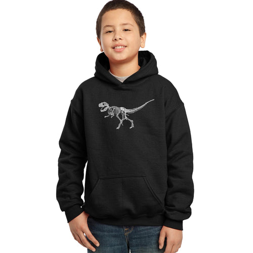 Boy's Hooded Sweatshirt - Dinosaur T-Rex Skeleton