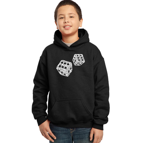 Boy's Hooded Sweatshirt - DIFFERENT ROLLS THROWN IN THE GAME OF CRAPS