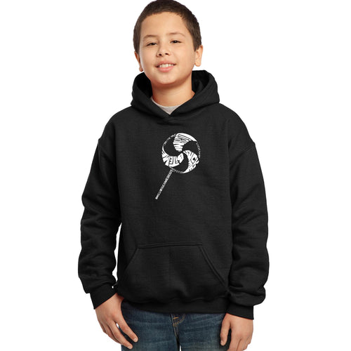 Boy's Hooded Sweatshirt - Lollipop