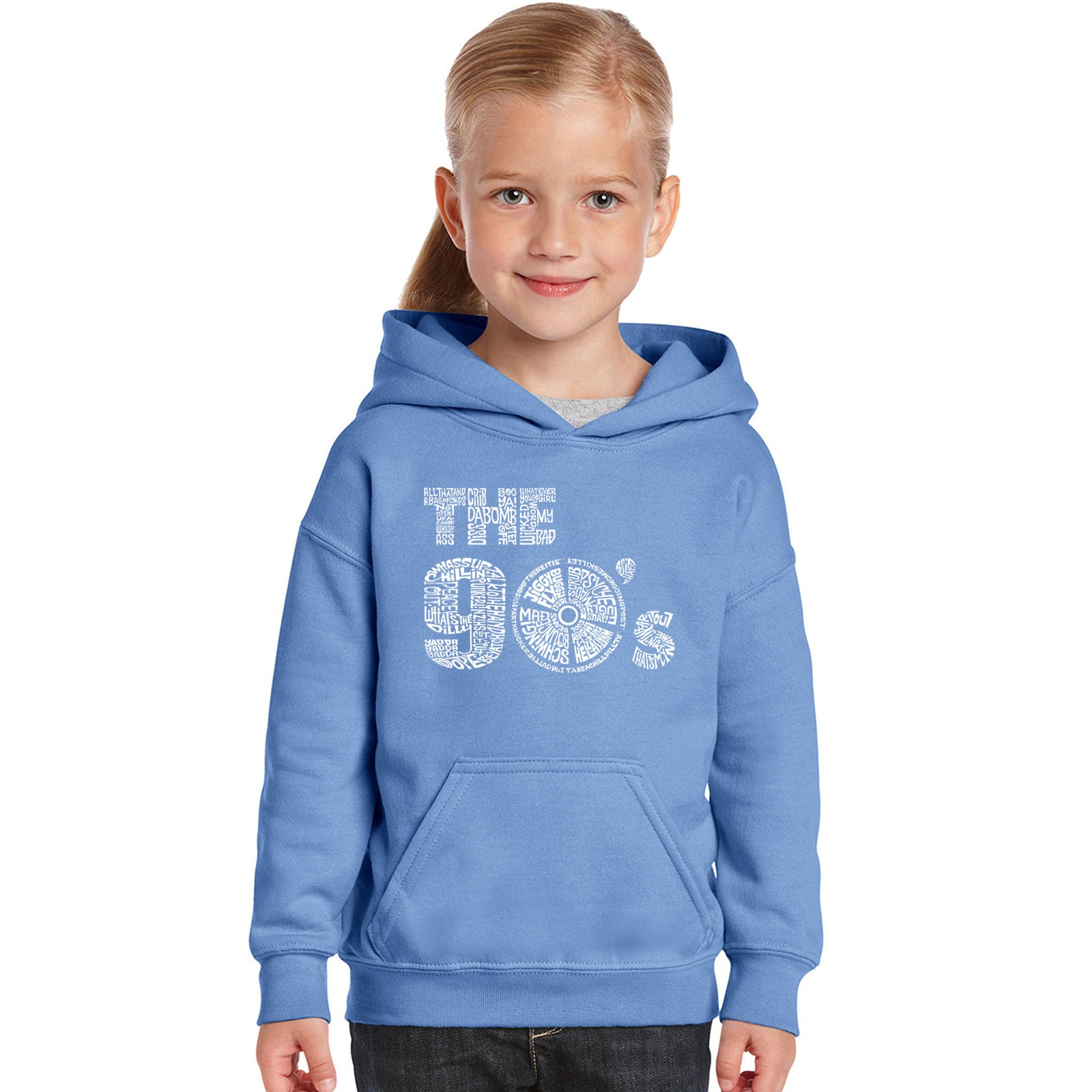 Girl's Word Art Hooded Sweatshirt - 90S