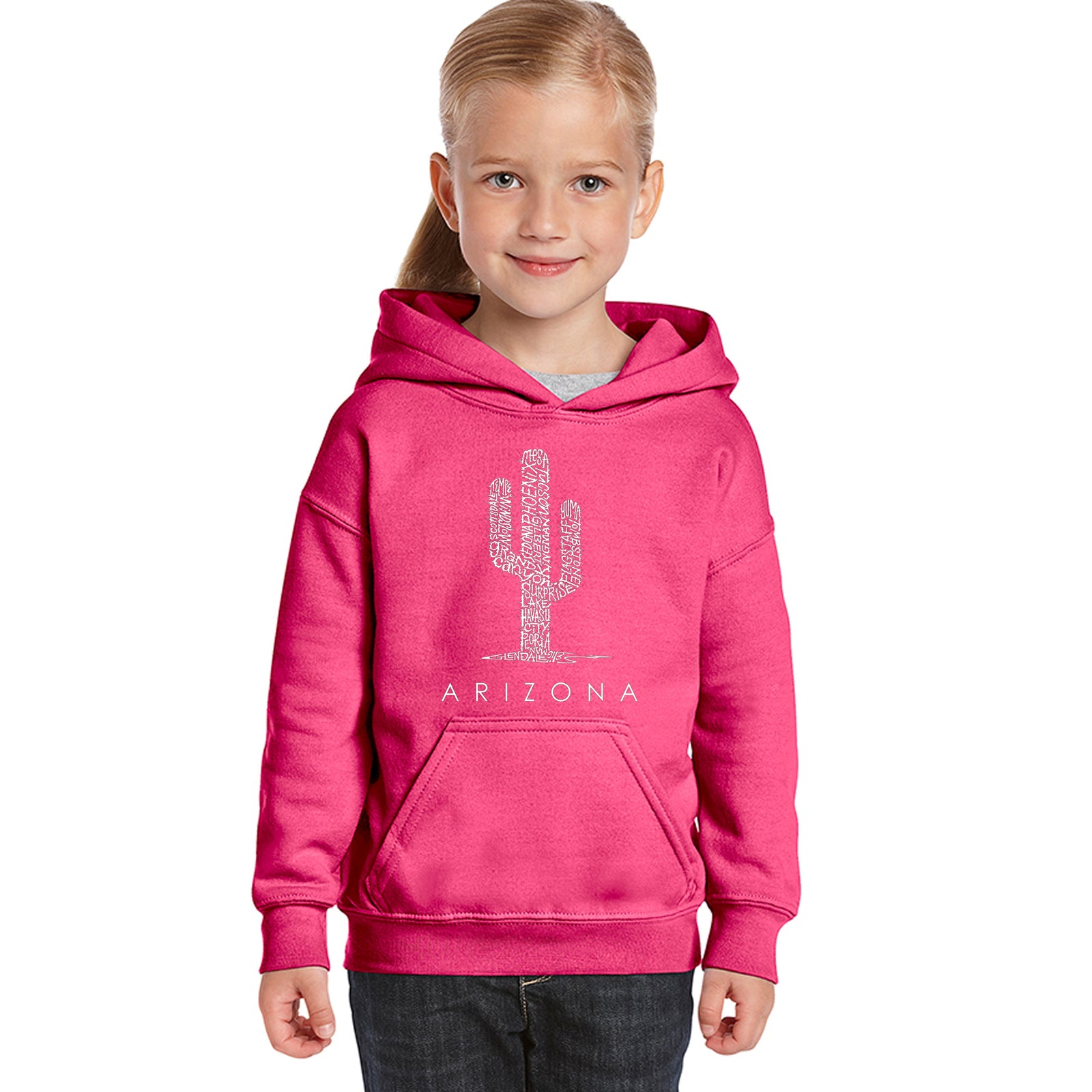 Girl's Hooded Sweatshirt - Arizona Cities