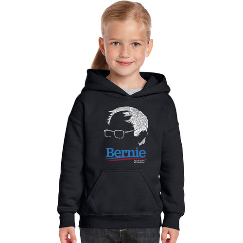 Girl's Word Art Hooded Sweatshirt - Bernie Sanders 2020