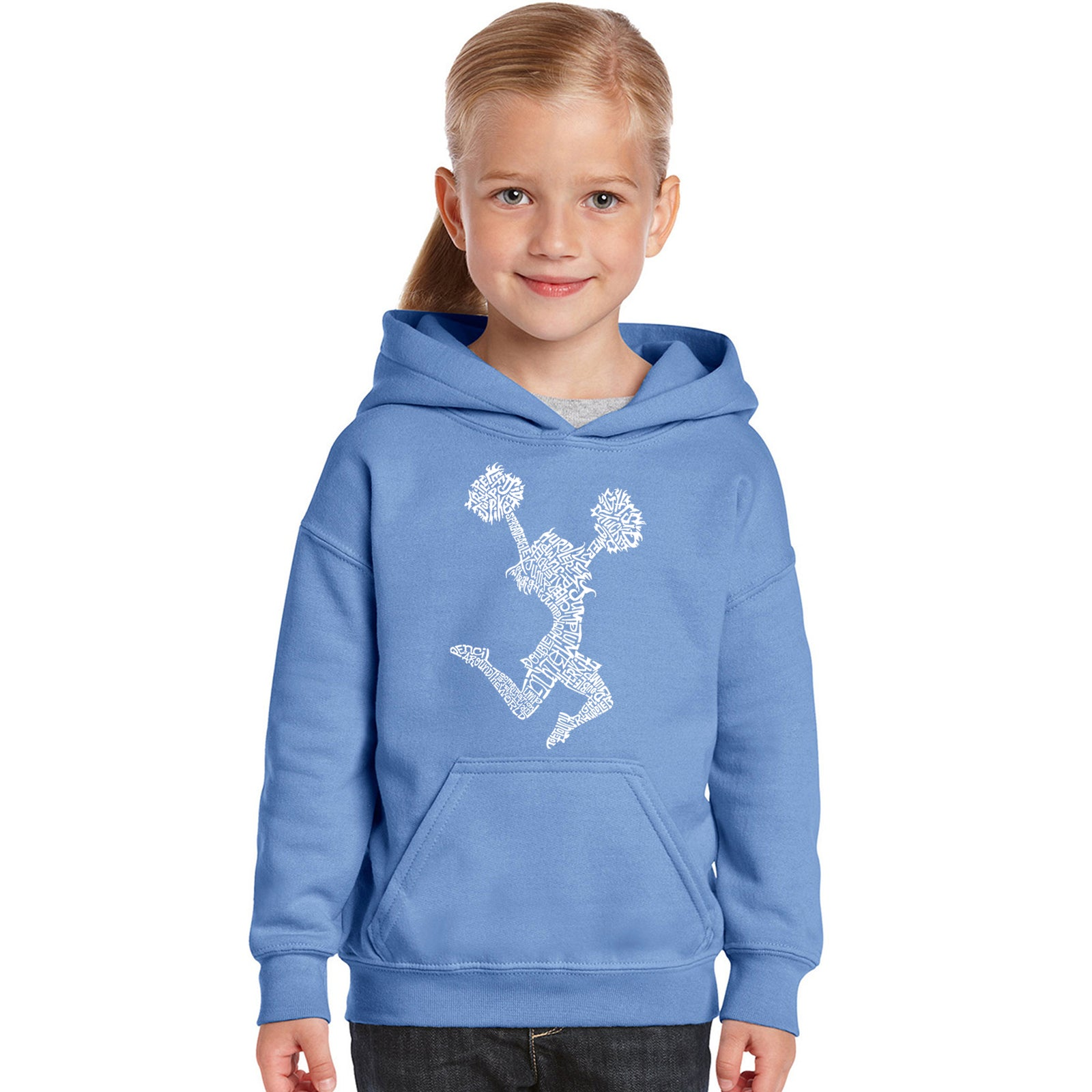 Girl's Word Art Hooded Sweatshirt - Cheer