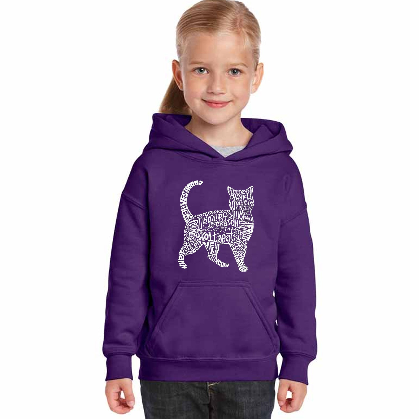 Girl's Hooded Sweatshirt - Cat