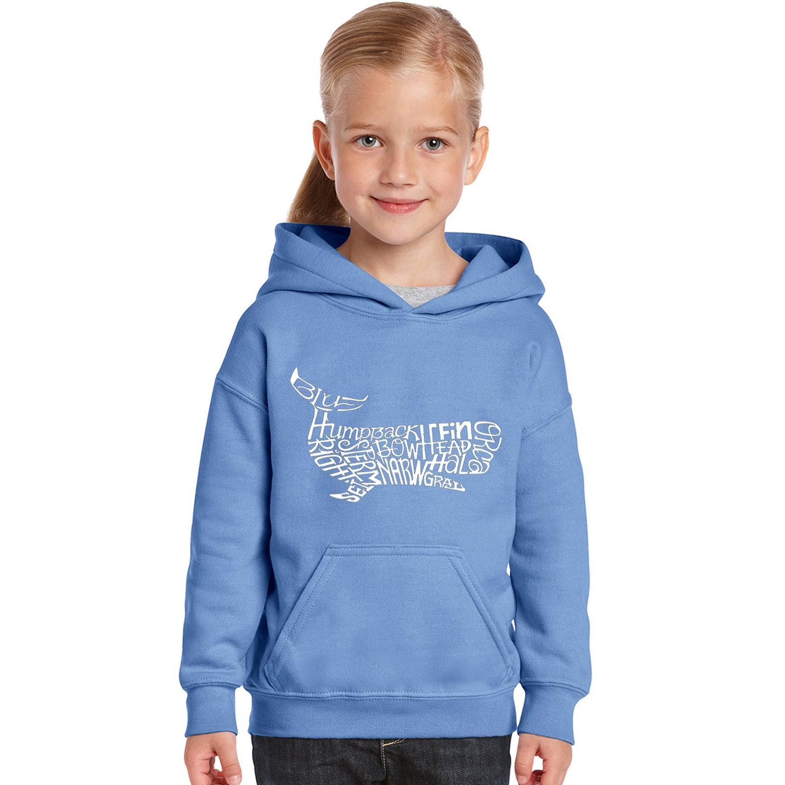Girl's Word Art Hooded Sweatshirt - Humpbk