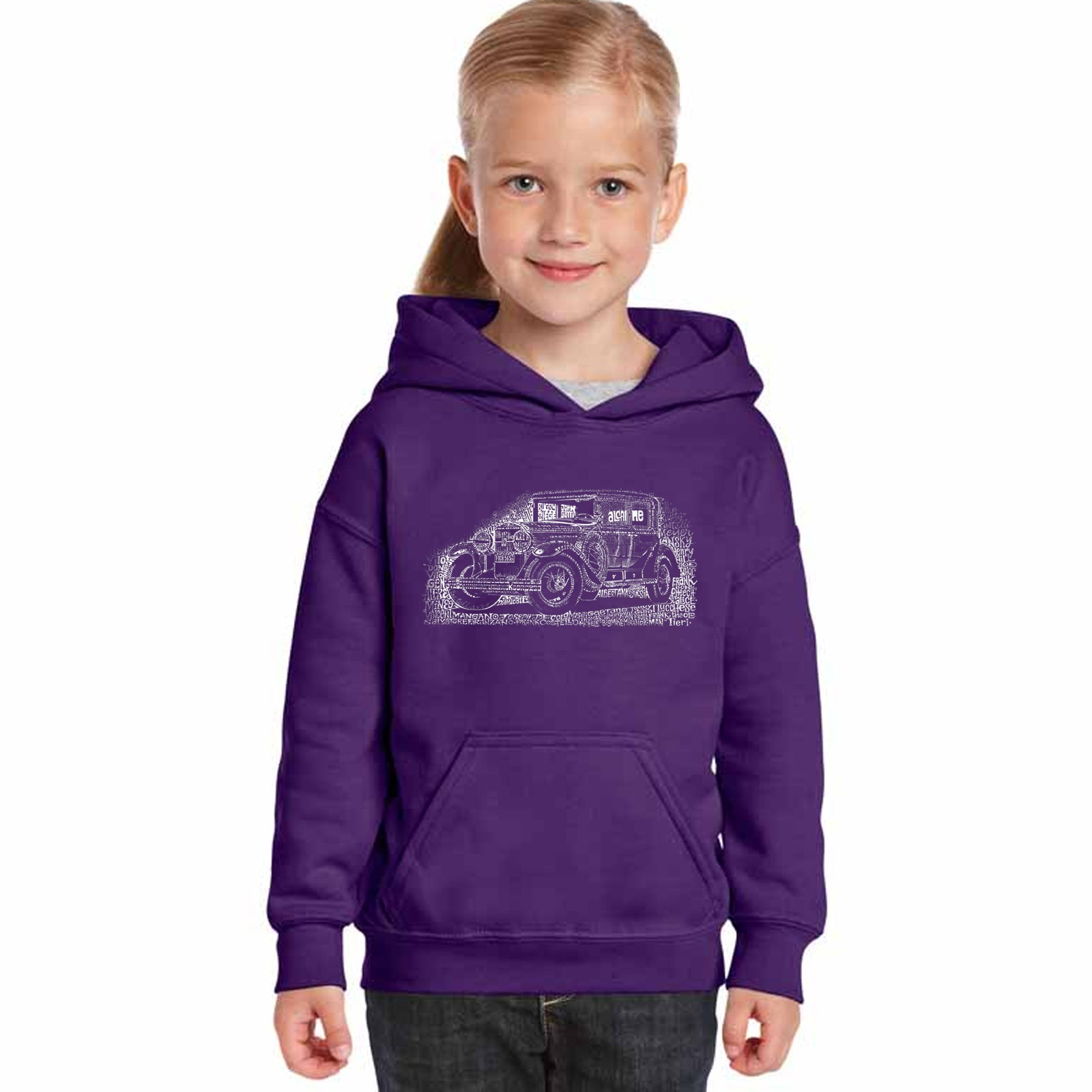 Girl's Hooded Sweatshirt - Legendary Mobsters