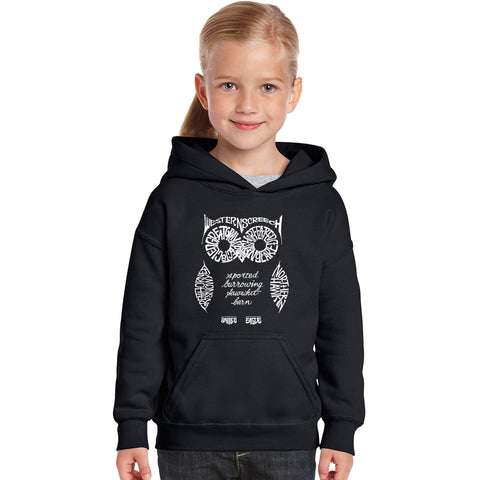 Girl's Word Art Hooded Sweatshirt - California Bear