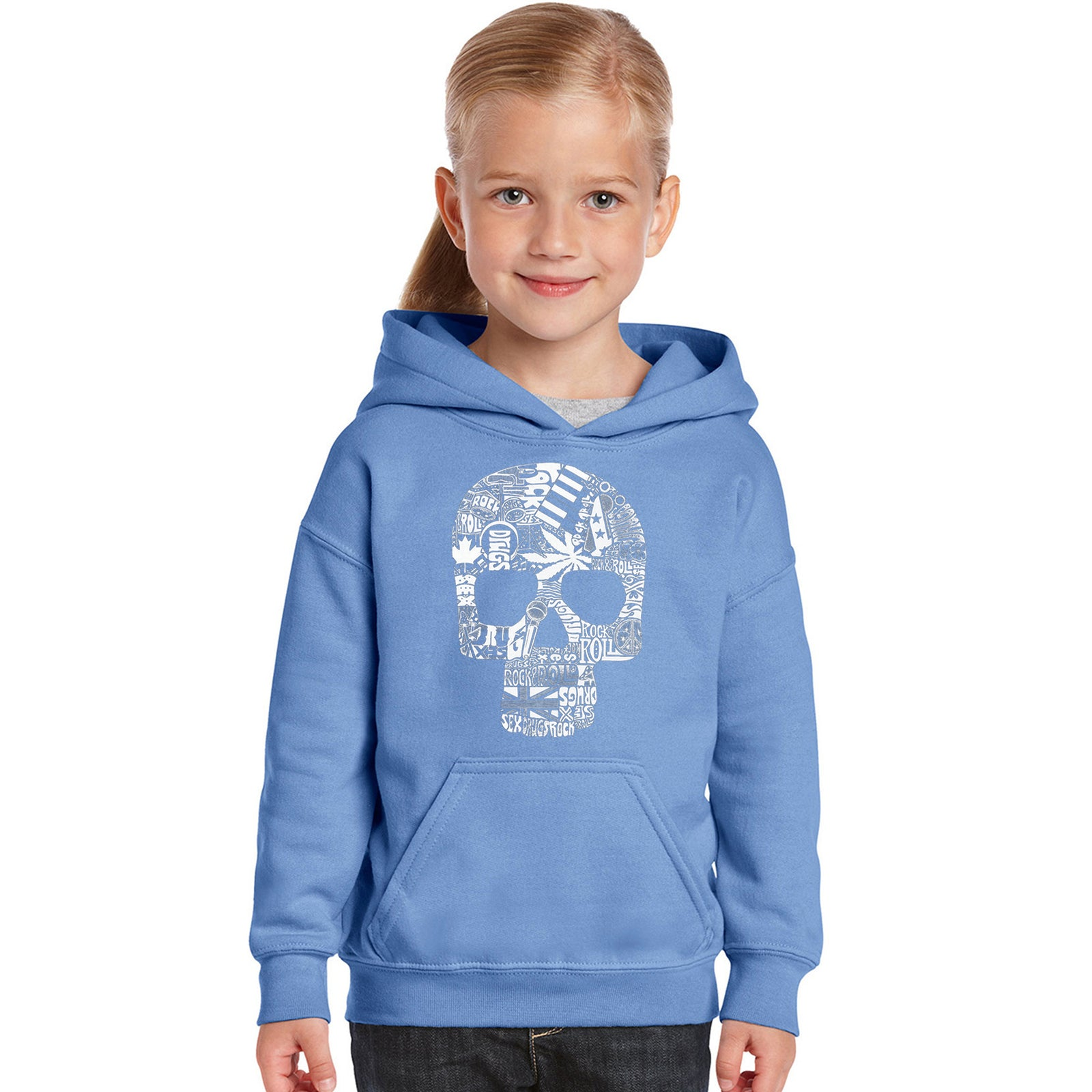 Girl's Hooded Sweatshirt - Sex, Drugs, Rock & Roll