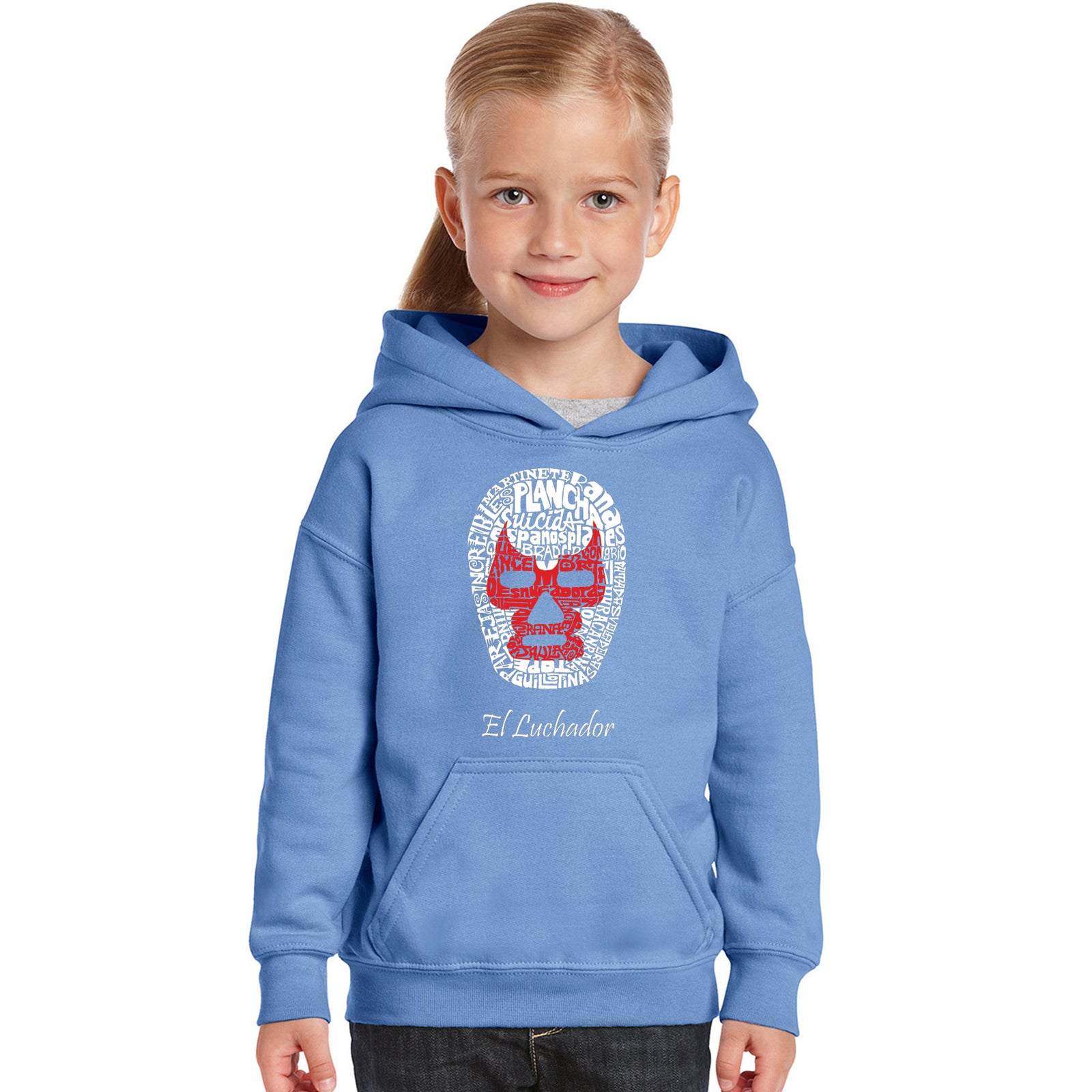 Girl's Hooded Sweatshirt - MEXICAN WRESTLING MASK