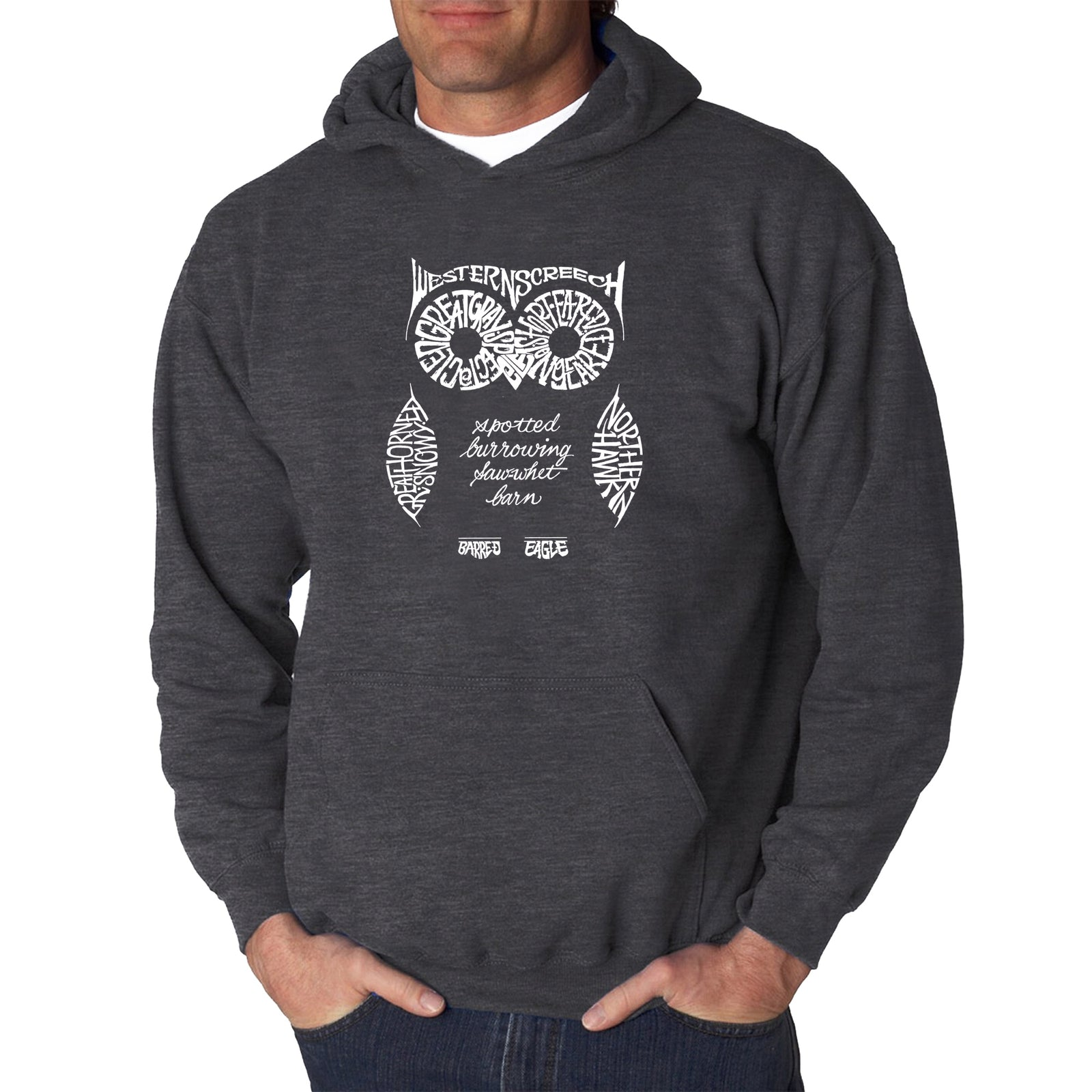 Los Angeles Pop Art Men's Hooded Sweatshirt - Owl