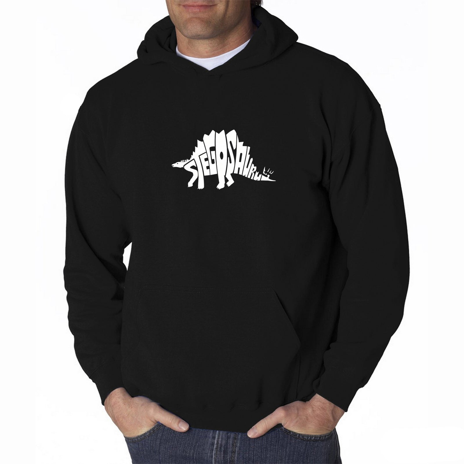 Men's Hooded Sweatshirt - STEGOSAURUS