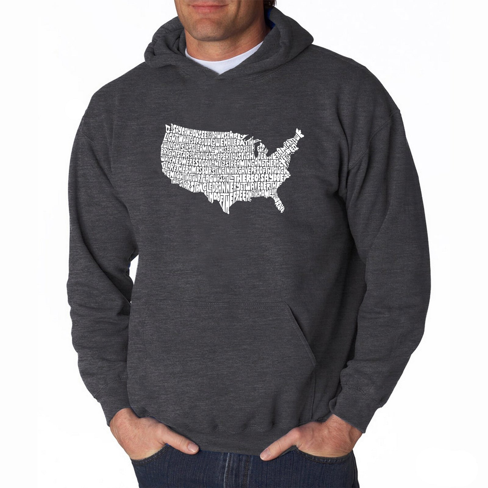 Men's Hooded Sweatshirt - THE STAR SPANGLED BANNER