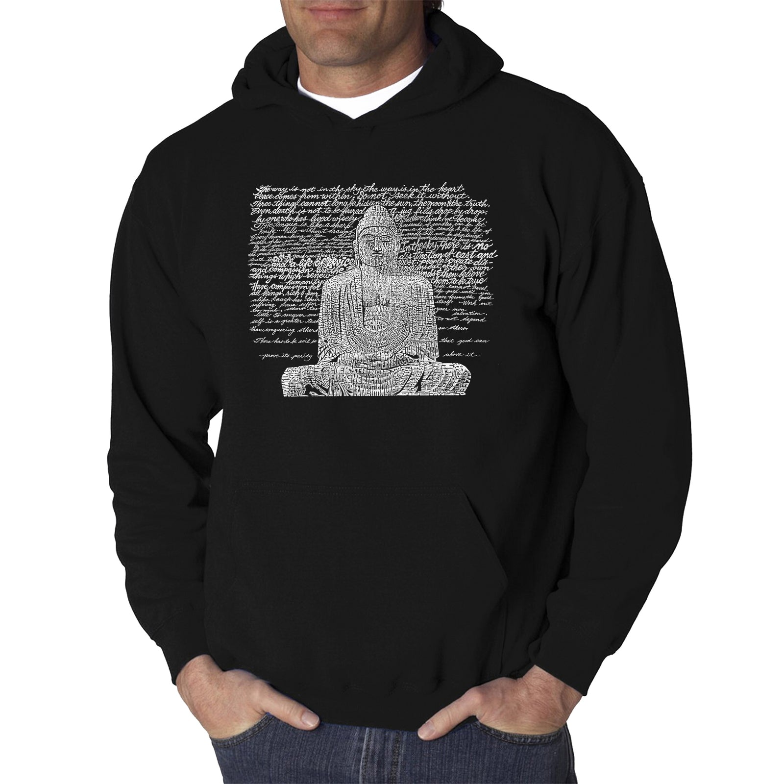 Men's Hooded Sweatshirt - Zen Buddha